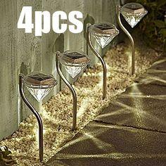 4Packs Outdoor LED Path Lamp Solar Power Night Lights Flower Lamp