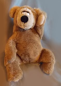 Wallace Berrie Bertram Bear 1982 Plush Brown by OnceAgainTreasure