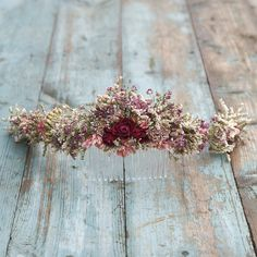 Summer Haze Dried Flower Half Hair Crown with Comb