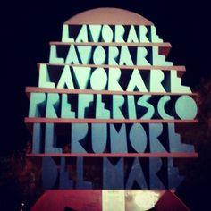 "@spi91's photo: ""#monument #lavorare #job #mare #sea #colours #summer #evening"""