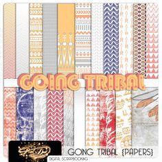Going Tribal Paper Pack preview of digital scrapbooking mega kit