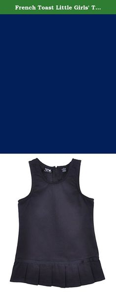 """French Toast Little Girls' Toddler """"Pleat Bow"""" Jumper - navy, 4t. This French Toast jumper is a cool and comfy addition to her school wardrobe. Made of soft brushed twill, it features a sleeveless bodice, easy-access zipper in the back, and a pleated skirt. A pretty bow accent and grosgrain ribbon trim add extra sweet style. 55% Cotton, 45% Polyester Machine Wash Cold Imported."""