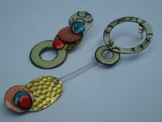 elza pereira silver and copper enameling