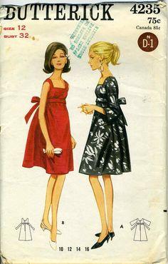 Vintage 60er Jahre Butterick 4235 Schnitt Misses von RomasMaison