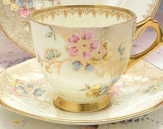 Plant Tuscan  Bone China Tea Set Trio English Afternoon Tea Party Wedding Table Bridal Shower Gift
