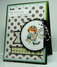 Love Mommy-Black Twill and Charcoal Twine