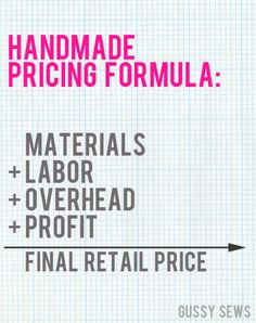 {Handmade Business in 31 Days — Day 31, How to accurately price your handmade items.}