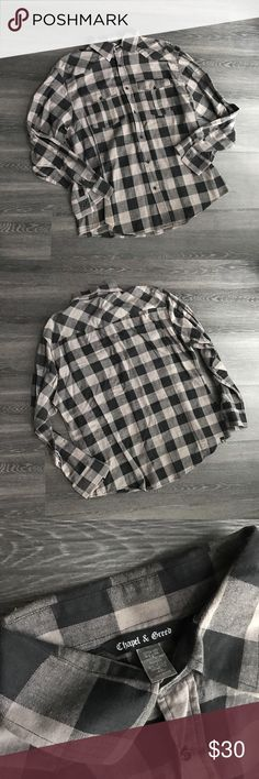 Men's Long-Sleeve Button-Down Shirt Item: Men's Long-Sleeve Button-Down Shirt  Color: Black/Grey  ❤️ Reasonable offers will be considered (please use the offer button to negotiate).  ✅ Bundle to save on shipping costs! ♏️ Lower prices on Merc! Find my page by searching for @heather_lynn.  ❌ Tag states this is a 4XL but it is VERY small, fits my boyfriend and he's an XXL! ❌ Lowball offers will be ignored.  Closet Tags: VS, Victoria's Secret, PINK, Lulu's, Charlotte Russe, Nike, Adidas, Follow…