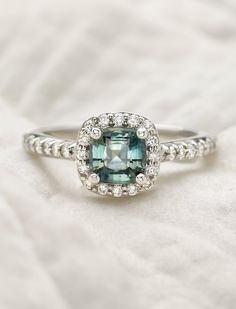 A breathtaking halo engagement ring.