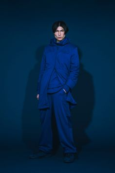 1T02_ Splicing LS Long Tee/1T03_ Boat-necked Sweater/1O08_Splicing Overcoat/1P04_Splicing Track Pants