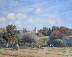 The Bell Tower at Noisy-le-Roi, Autumn - Alfred Sisley