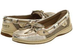 Sperry Topsider Angelfish Gold Metallic Ladies Shoes BNIB | eBay