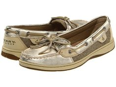 Sperry Topsider Angelfish Gold Metallic Ladies Shoes BNIB | eBay
