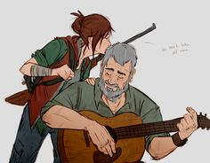 """after by Ununununium @ deviantART """"older Ellie and older Joel because i need these assholes to be happy dammit"""""""