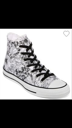 8893db5d4f7a Converse Chuck Taylor Womens Outline Floral High-Top Sneakers CAD) ❤ liked…
