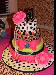 I want this for my next birthday!! 80's fashion cake meets retro Betsy Johnson fashions!
