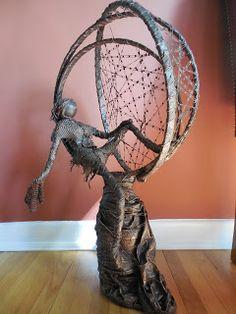 Lucy H. Textile Sculpture, Textile Fiber Art, Pottery Sculpture, Sculpture Art, Sculpture Ideas, Masks Art, Outdoor Art, Cold Porcelain, Diy Art