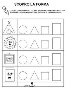 Risultati immagini per pregrafismo sc infa Shapes Worksheets, Tracing Worksheets, Worksheets For Kids, Kindergarten Crafts, Preschool Math, Montessori Activities, Activities For Kids, Teaching Shapes, Coding For Kids