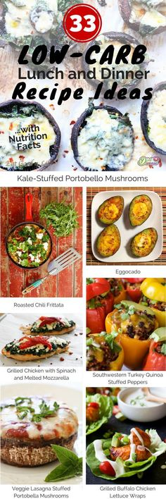 33 Low-Carb Lunch and Dinner Ideas (With Nutrition Facts) Low Carb Meal Plan, Low Carb Lunch, Low Carb Keto, Banting Recipes, No Carb Recipes, Cooking Recipes, Healthy Snacks, Healthy Eating, Healthy Recipes