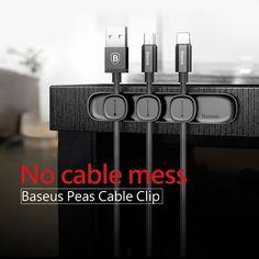 Baseus titular clips para cable magnético gestión de cables del cable de escritorio del montaje del cable para el iPhone Samsung HTC