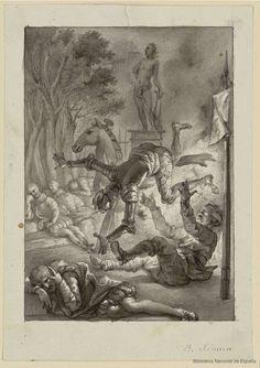 [Aventura de Clavileño]. Ximeno y Planes, Rafael 1759-1825 — Dibujo — 1780