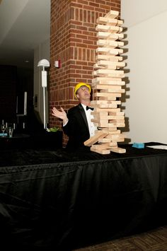 How tall can you get your giant tumbling towers before it falls.. enjoy your party :)