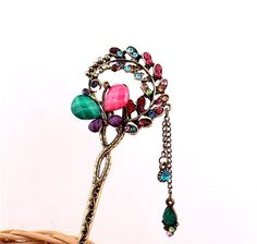 New Girl Women Fashion Multi Rhinestone Butterfly Ladies Hair Stick Hairpin 15 #Unbranded