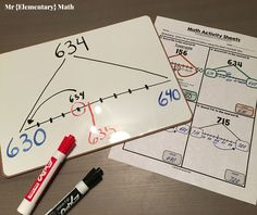 Rounding can be a challenging skill. Help your students better understand rounding, to the nearest 10 and using interactive number lines, hands-on rounding activities, games and independent worksheets. Rounding Activities, Math Games, Math Math, Math Fractions, Maths, Math Teacher, Educational Activities, Math Round, Line Math