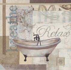 Sandra Smith relax and breath bath print