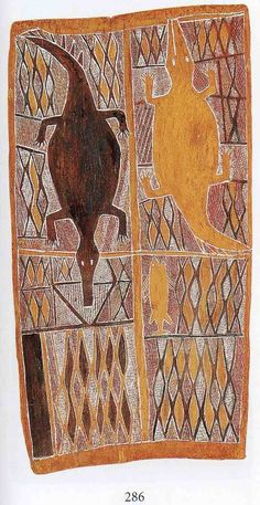 The aim of this article is to assist readers in identifying if their bark painting is by Munggurrawuy Yunapinju . Aboriginal Art Animals, Aboriginal Dot Painting, Aboriginal Culture, Illustration Art, Illustrations, Indigenous Art, Australian Artists, Native Art, Land Art