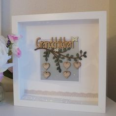 Items similar to Personalised Grandparents Gift, Customised Grandparent Gift, Gift from Grandchildren, Grandparents Thank you Gift, Christmas box frame gift on Etsy Christmas Box Frames, Christmas Makes, Christmas Gifts, Christmas Birthday, Christmas Ornaments, Family Tree Frame, Family Trees, Personalised Frames, Grandparent Gifts