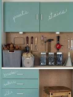 Top Ten Pretty and Organized Garages and Sheds and Link Party