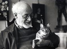 Matisse and cat, cat art