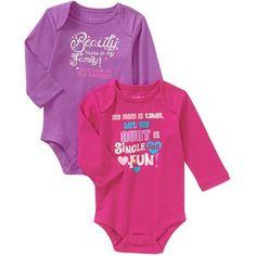 Garanimals Newborn Girl Attitude Bodysuits, 2-Pack - Walmart.com