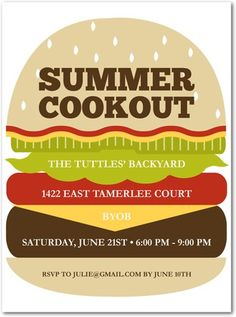Bbq invitation backyard bbq invitation summer party invitation try planning a summer cookout and have some friendly invitation pronofoot35fo Images