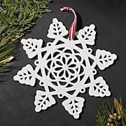 Traditional Snowflake Porcelain Ornament