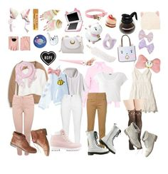 """""""Cartoons: Bee and Puppycat"""" by cartoonvillian ❤ liked on Polyvore featuring Topshop, M&Co, Jigsaw, Dondup, Love Quotes Scarves, With Love From CA, Madewell, RIPNDIP, Hollister Co. and Karl Lagerfeld"""