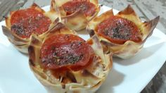 Pepperoni Pizza Wonton Cups