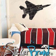 Vinyl Wall Art Decal Sticker Fighter Jet