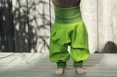 Pumphosen - Leinen Hose extraweit - ein Designerstück von SinaMo bei DaWanda