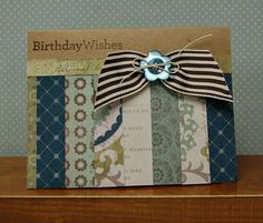 card by Lynn Darda using CTMH Avonlea paper.... (change sentiment)