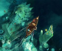 #water #surprise #blue #statue #boat #waterfall #art #digitalart Underwater, Waterfall, Sci Fi, Digital Art, Sketches, Princess Zelda, Statue, Artwork, Boat