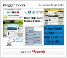 Show Pinterest Latest Pins Widget On Blogger | Blogger Trix | Blogger Tips and Tricks | Free Templates