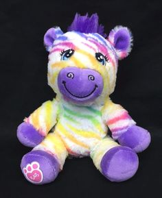 "Build A Bear Buddies Rainbow Stripes Zebra 7"" Plush Small Stuffed Animal Toy | Dolls & Bears, Bears, Build-a-Bear | eBay!"