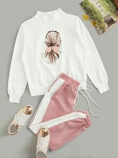 Cute Lazy Outfits, Cute Swag Outfits, Stylish Outfits, Girls Fashion Clothes, Teen Fashion Outfits, Outfits For Teens, Looks Adidas, Mode Adidas, Teenager Outfits
