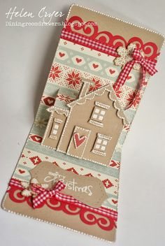 Gingerbread house pop up card by Helen Cryer
