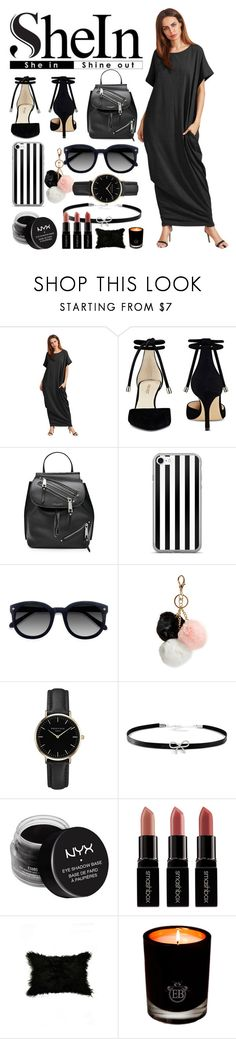 """""""🌓"""" by noandrea ❤ liked on Polyvore featuring Nine West, Marc Jacobs, Ace, GUESS, ROSEFIELD, Giani Bernini, NYX, Smashbox and EB Florals"""