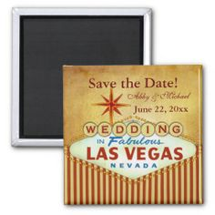 Save the Date for Fabulous Las Vegas Refrigerator Magnets