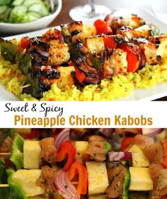 Sweet And Spicy Pineapple Chicken Kabobs