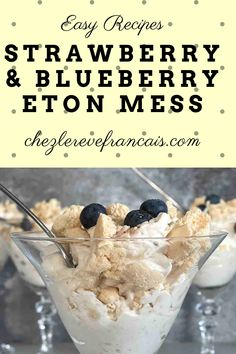Make this very British dessert of crushed meringues, soft fruit and whipped cream with my step by step recipe. #etonmess #strawberryetonmess #meringuedessert Potluck Dishes, Potluck Recipes, Dessert Recipes, English Desserts, British Desserts, Meringue Desserts, No Bake Desserts, Eton Mess, Rustic Bread
